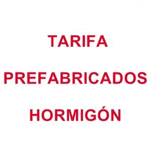 Tarifa Prefabricados
